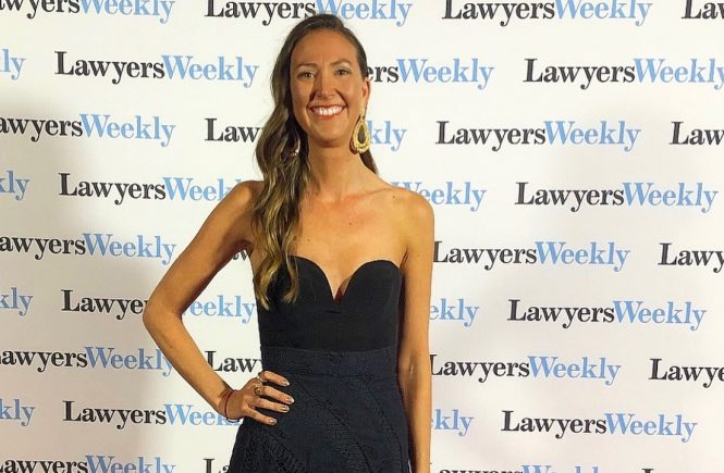 Vedic Meditation Teacher Kate Cliff attends the Women In Law Awards as The Wellness Advocate of The Year Finalist